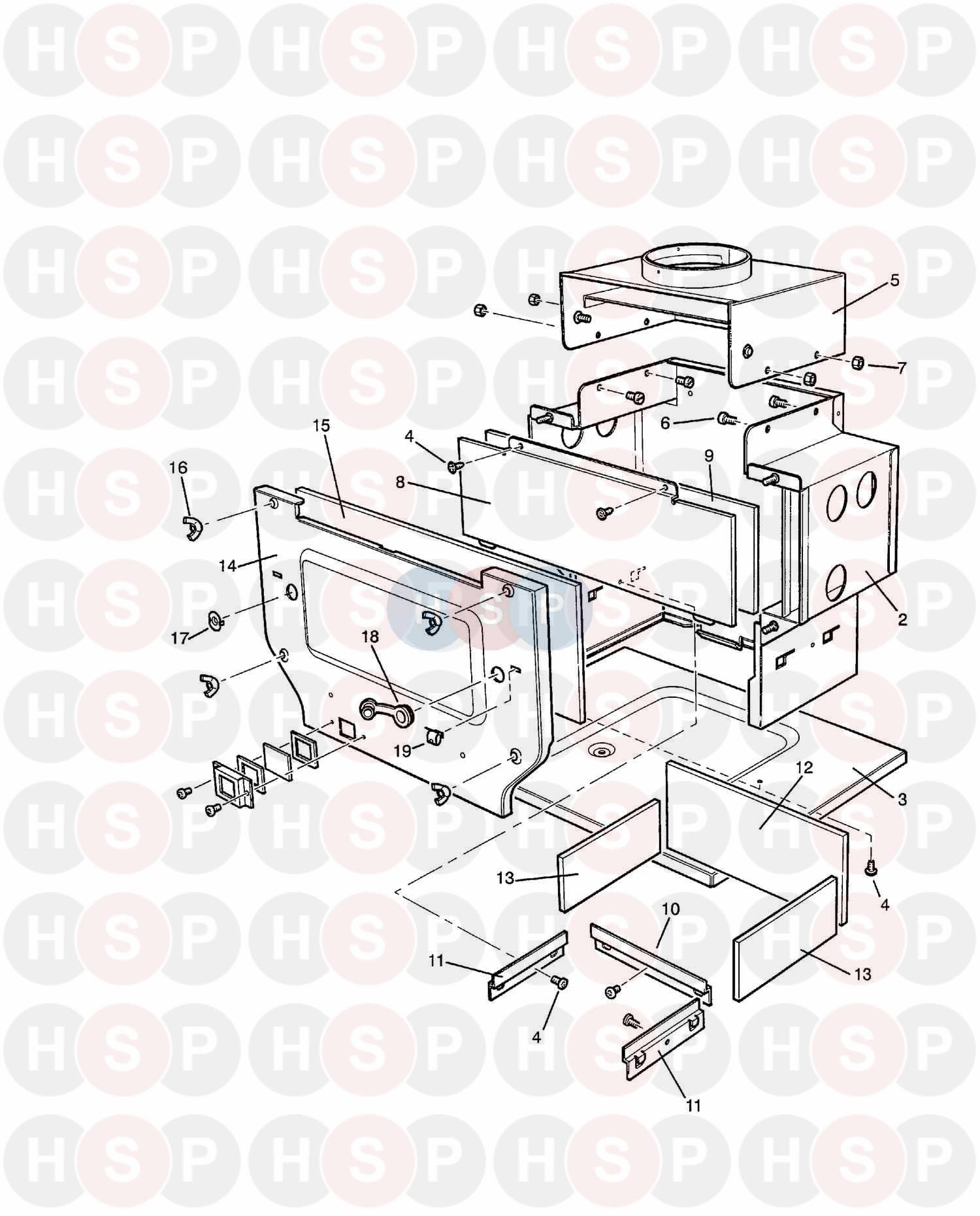 Baxi Bermuda Inset 50 3 Appliance Diagram Combustion Box