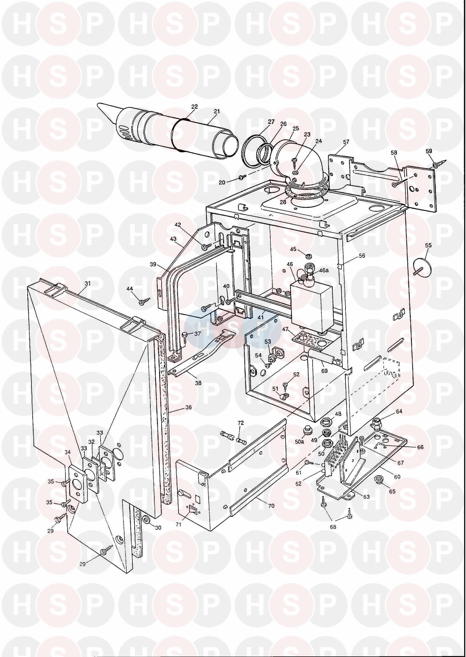 potterton envoy 30 appliance diagram  assembly 1