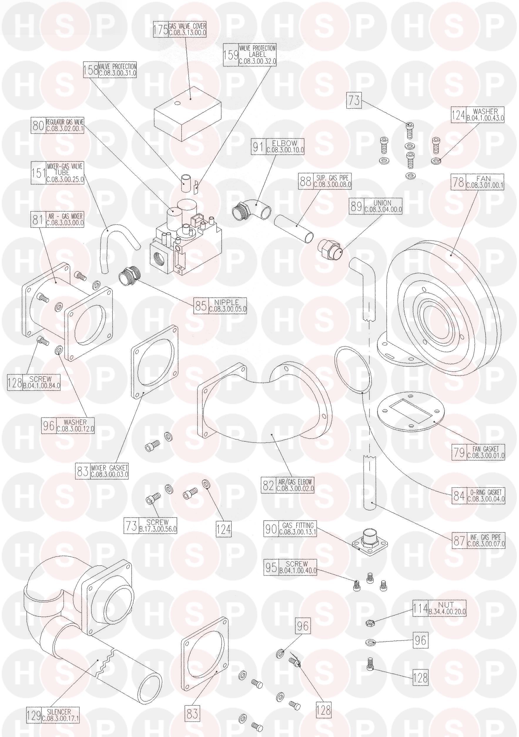 Keston Keston Celsius 25  U0026 25p Models Appliance Diagram