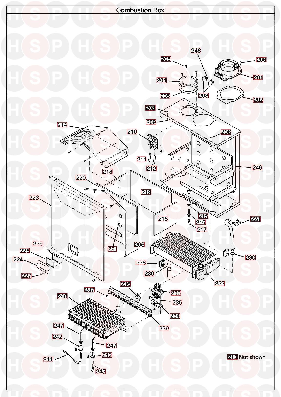 main 18 he system appliance diagram  combustion box