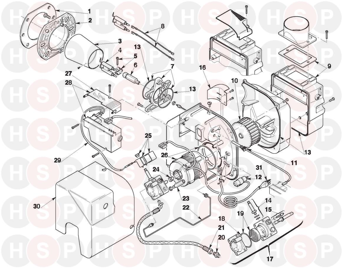 riello oil burner wiring diagram