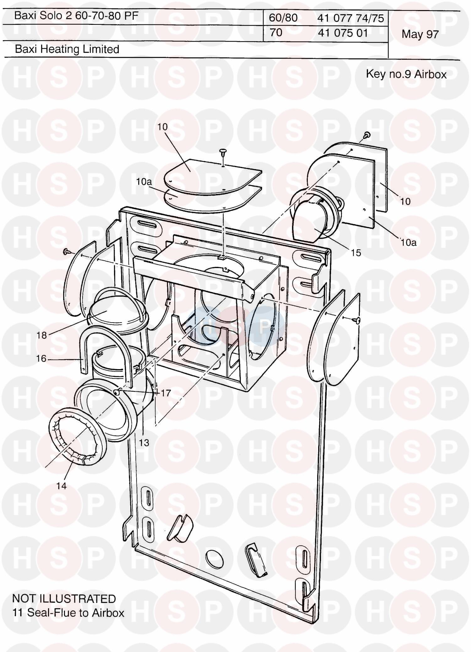 baxi solo pf 2 60 boiler diagram  air box