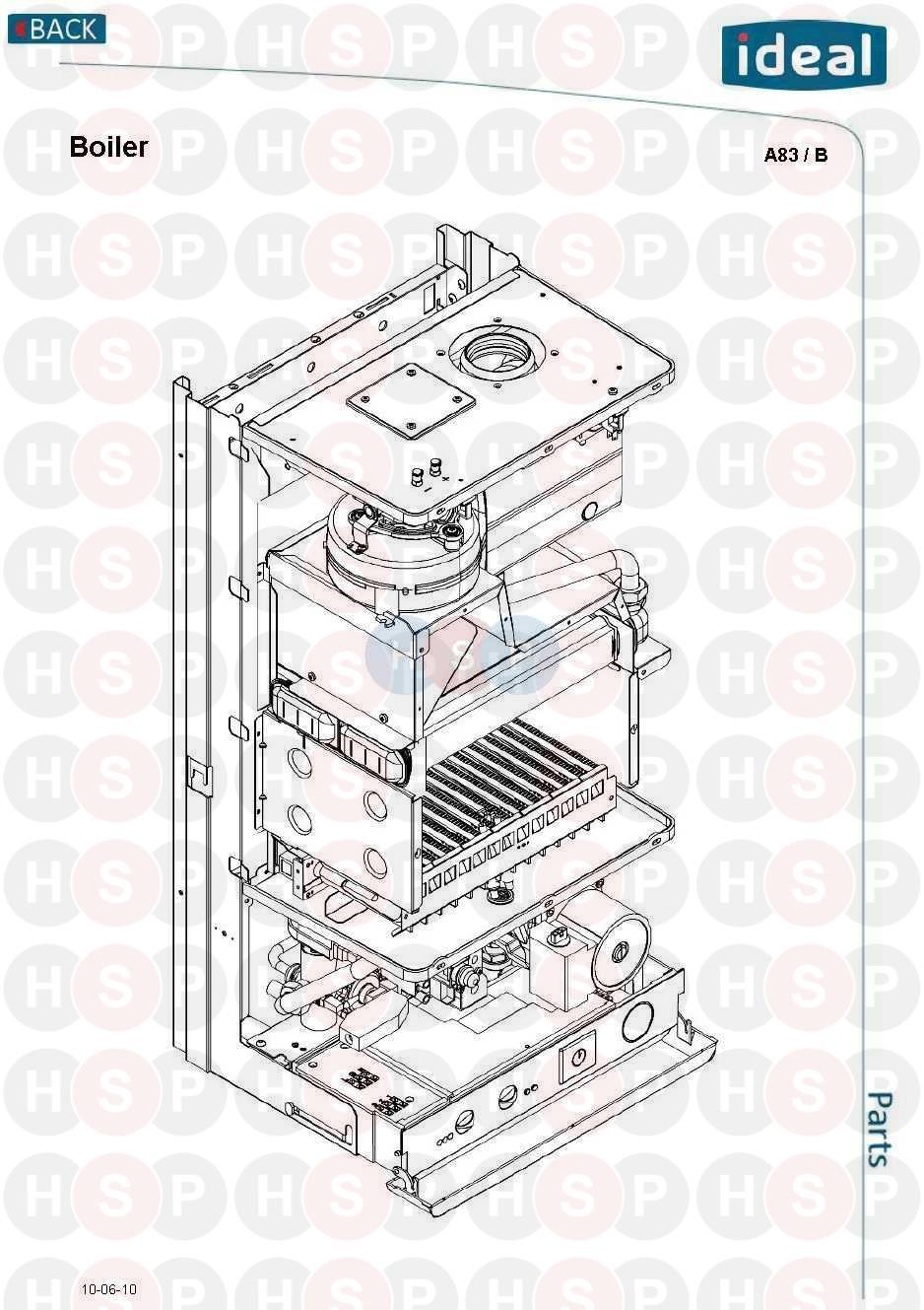 ideal mini he c24 boiler diagram  boiler