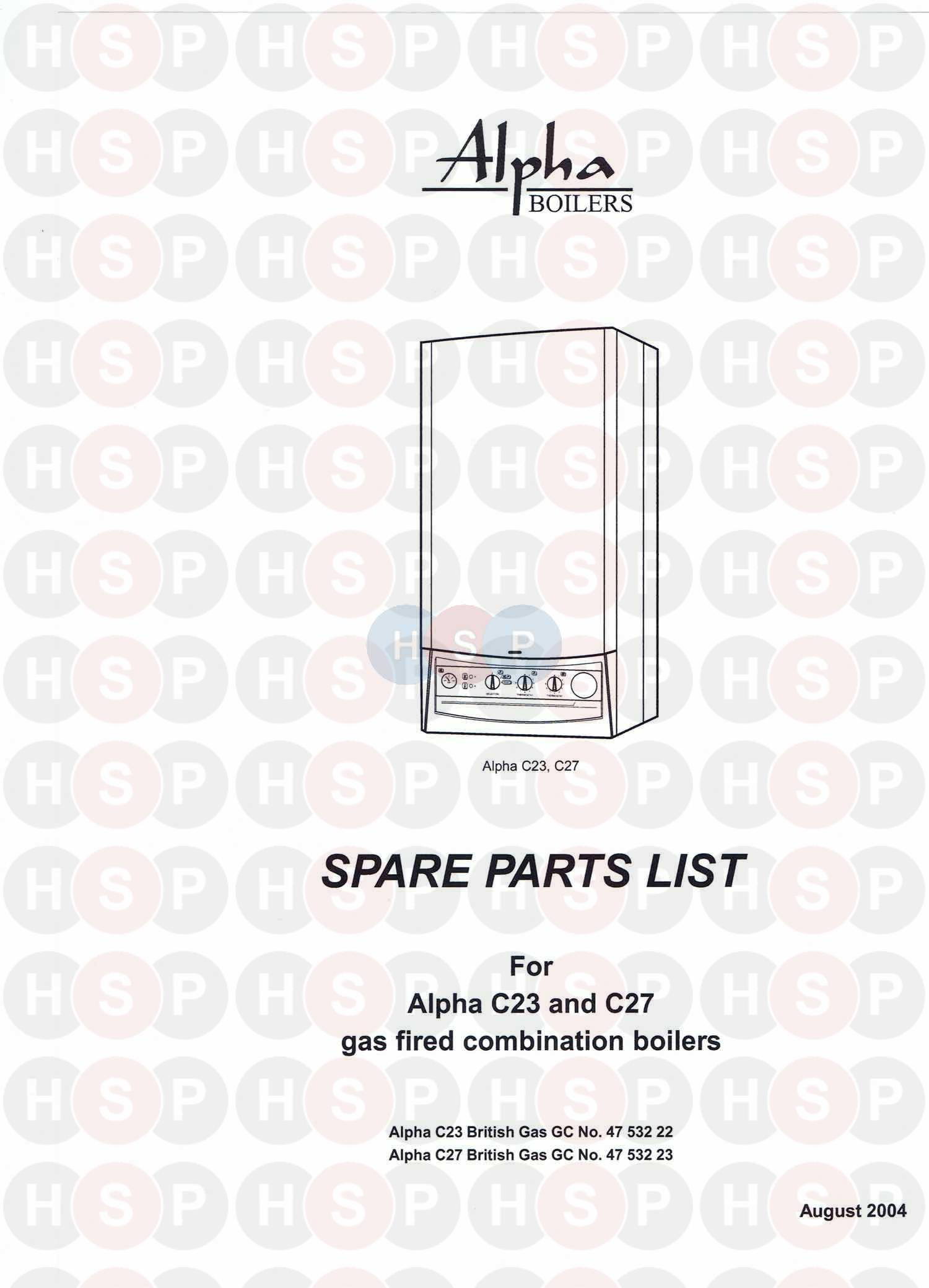 alpha c27 boiler diagram 01 appliance identification heating click the diagram to open it on a new page