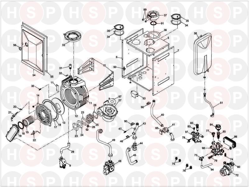 sime murelle ev he 30 boiler diagram  internal components
