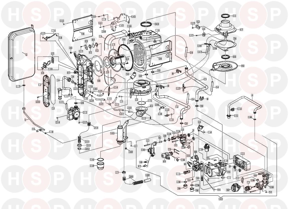 Alpha INTEC 30C Appliance Diagram (EXPLODED VIEW