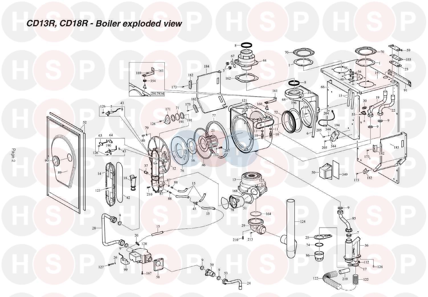 alpha cd24r appliance diagram  boiler assembly
