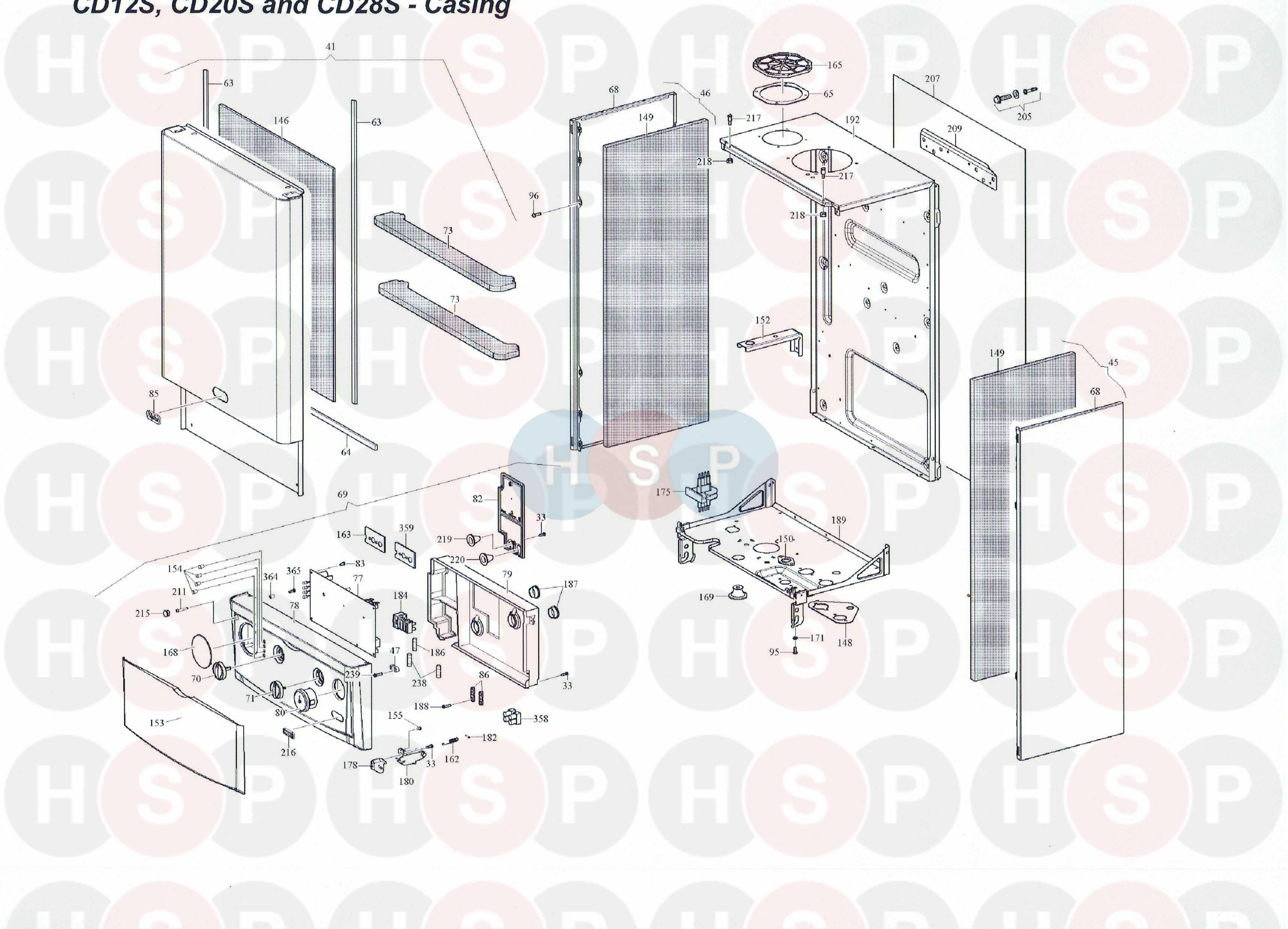 Alpha Cd 12s Casing Diagram Heating Spare Parts Wiring For