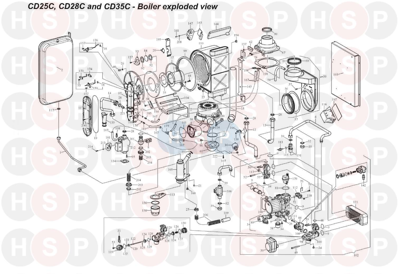 BOILER ASSEMBLY diagram for Alpha CD28C