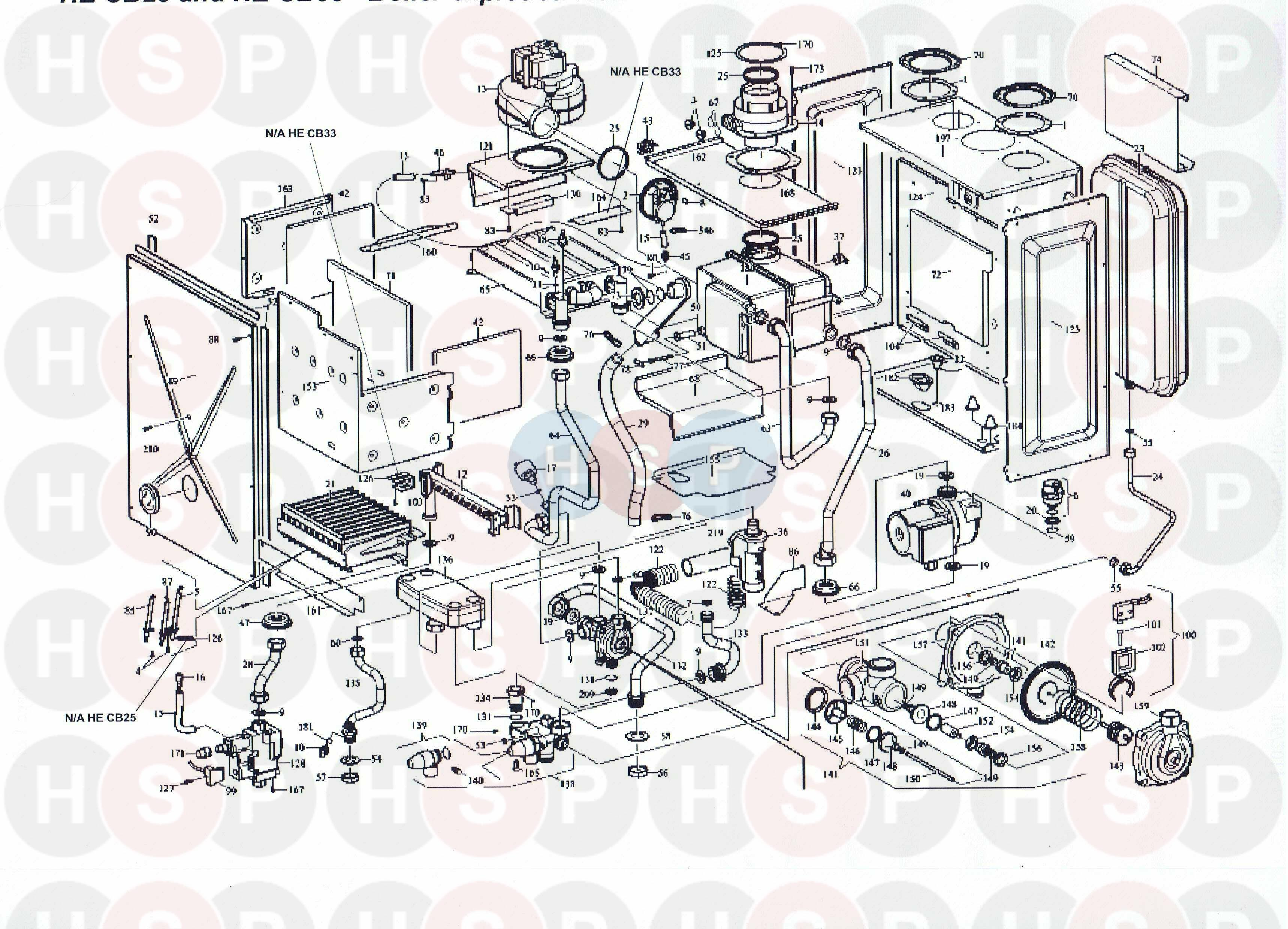 Alpha He Cb 25 Boiler Assembly Diagram Heating Spare Parts Cb50 Wiring For