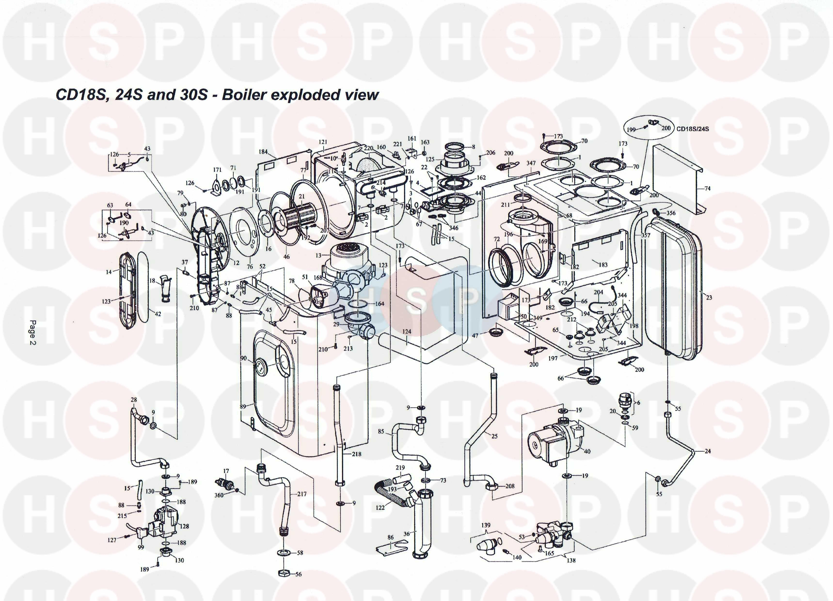 alpha cd30s appliance diagram  boiler assembly  heating
