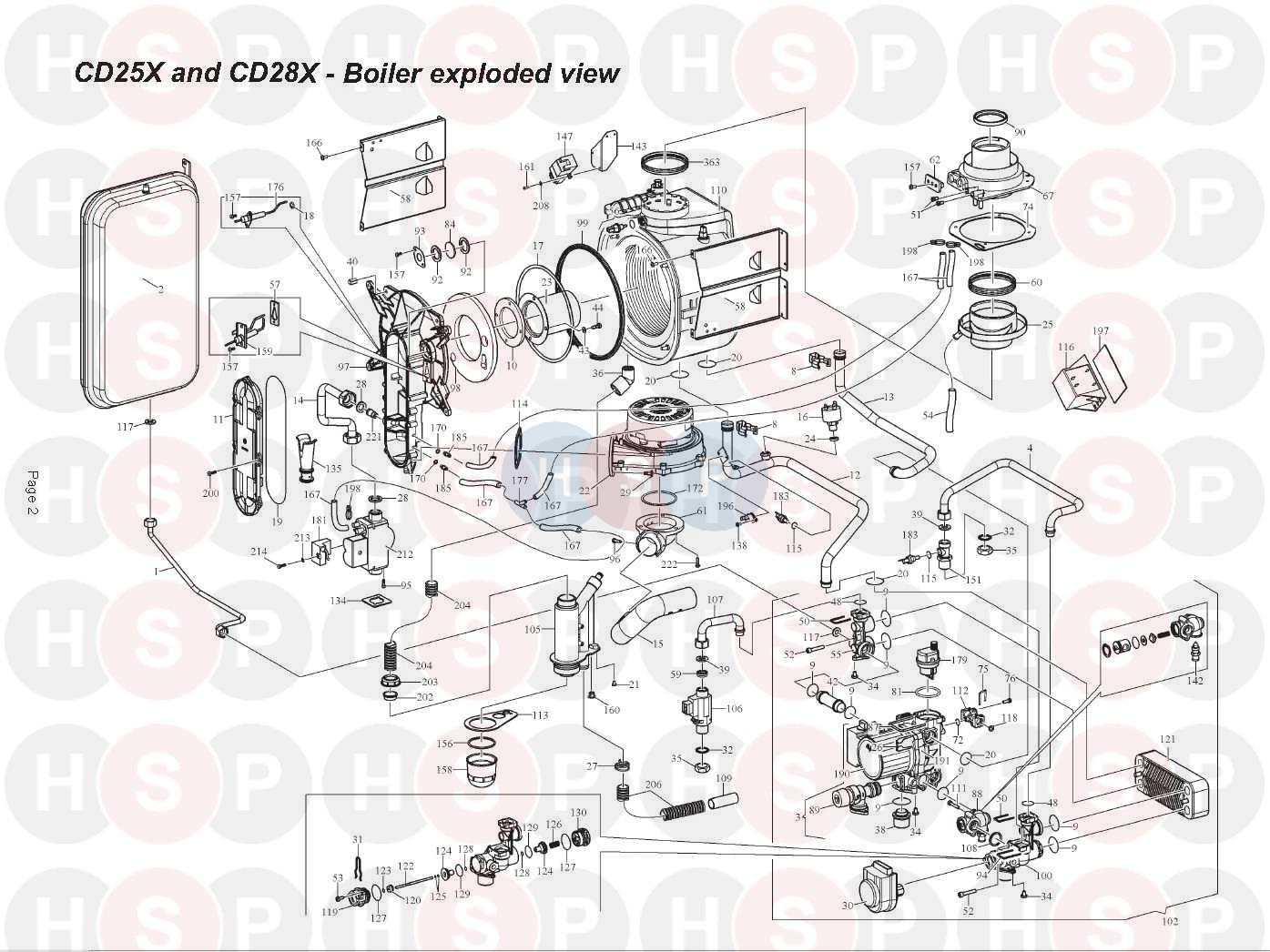 alpha cd25x appliance diagram  fan  burner  heat exchanger
