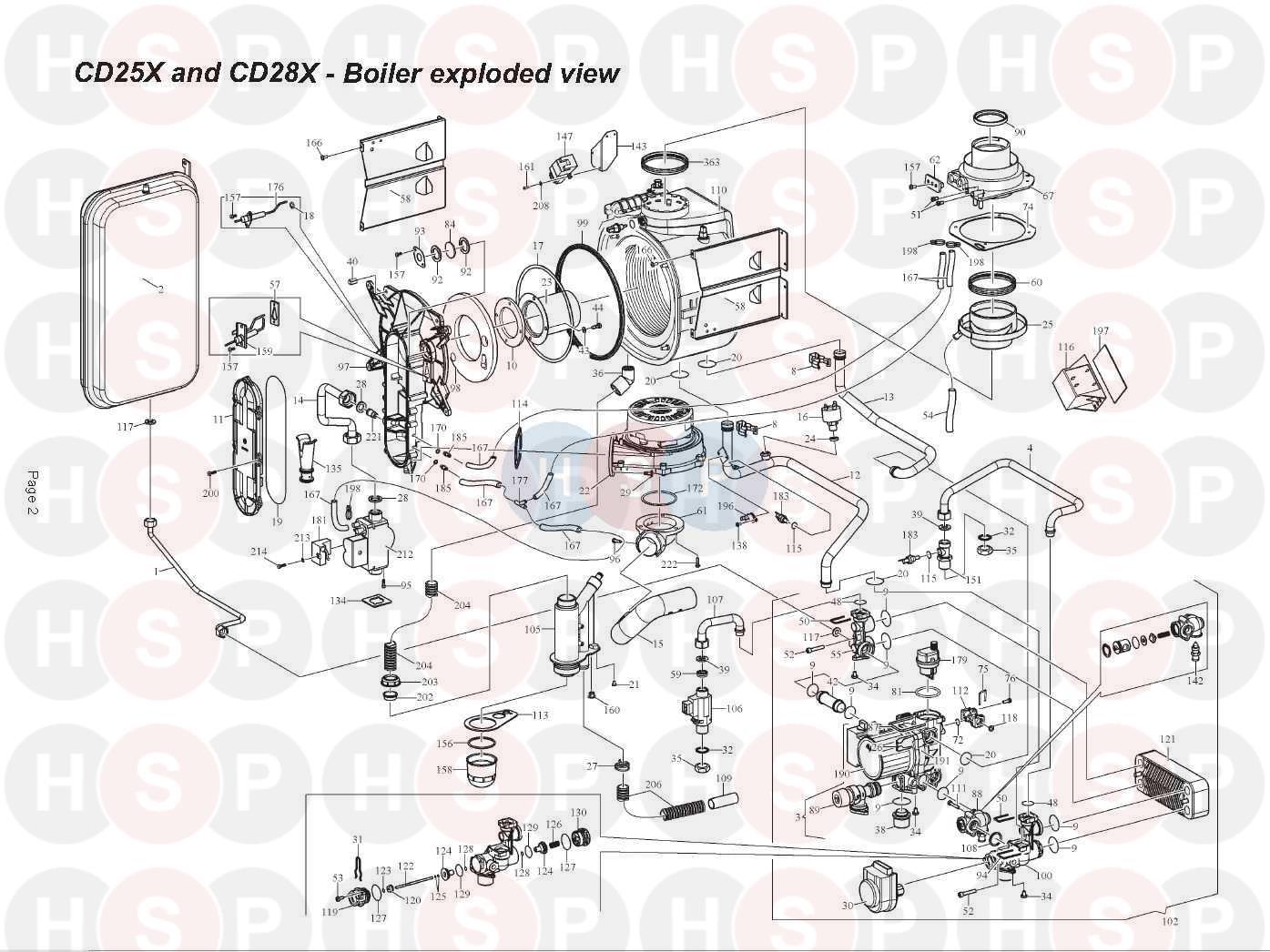 alpha cd25x  fan  burner  heat exchanger  diagram