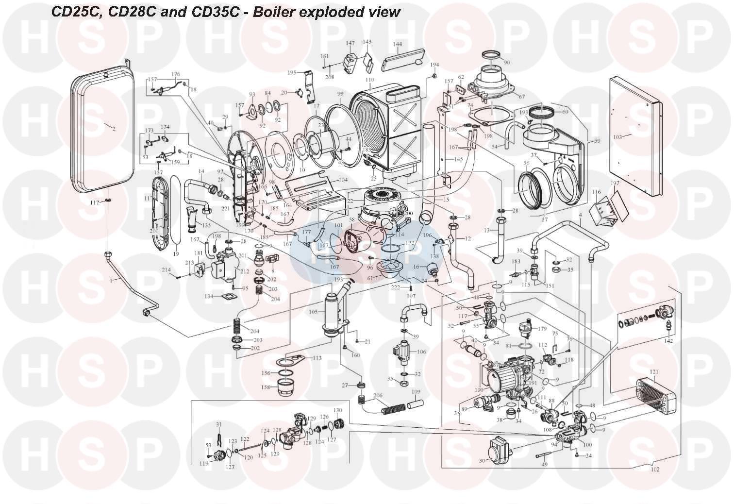 alpha cd25c appliance diagram boiler assembly heating. Black Bedroom Furniture Sets. Home Design Ideas