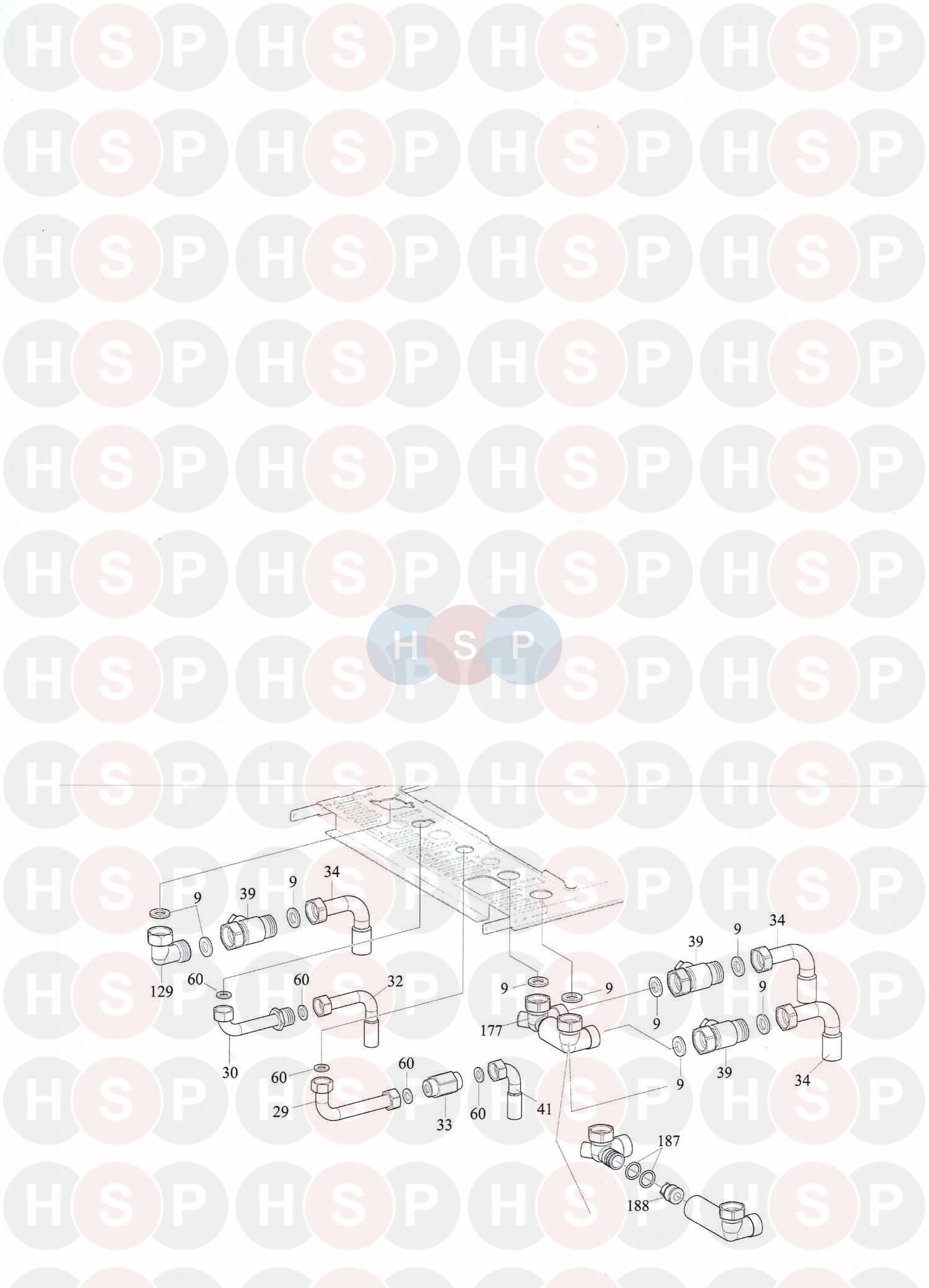 Alpha C27 (Wall Jig & Hydraulic Connections) Diagram