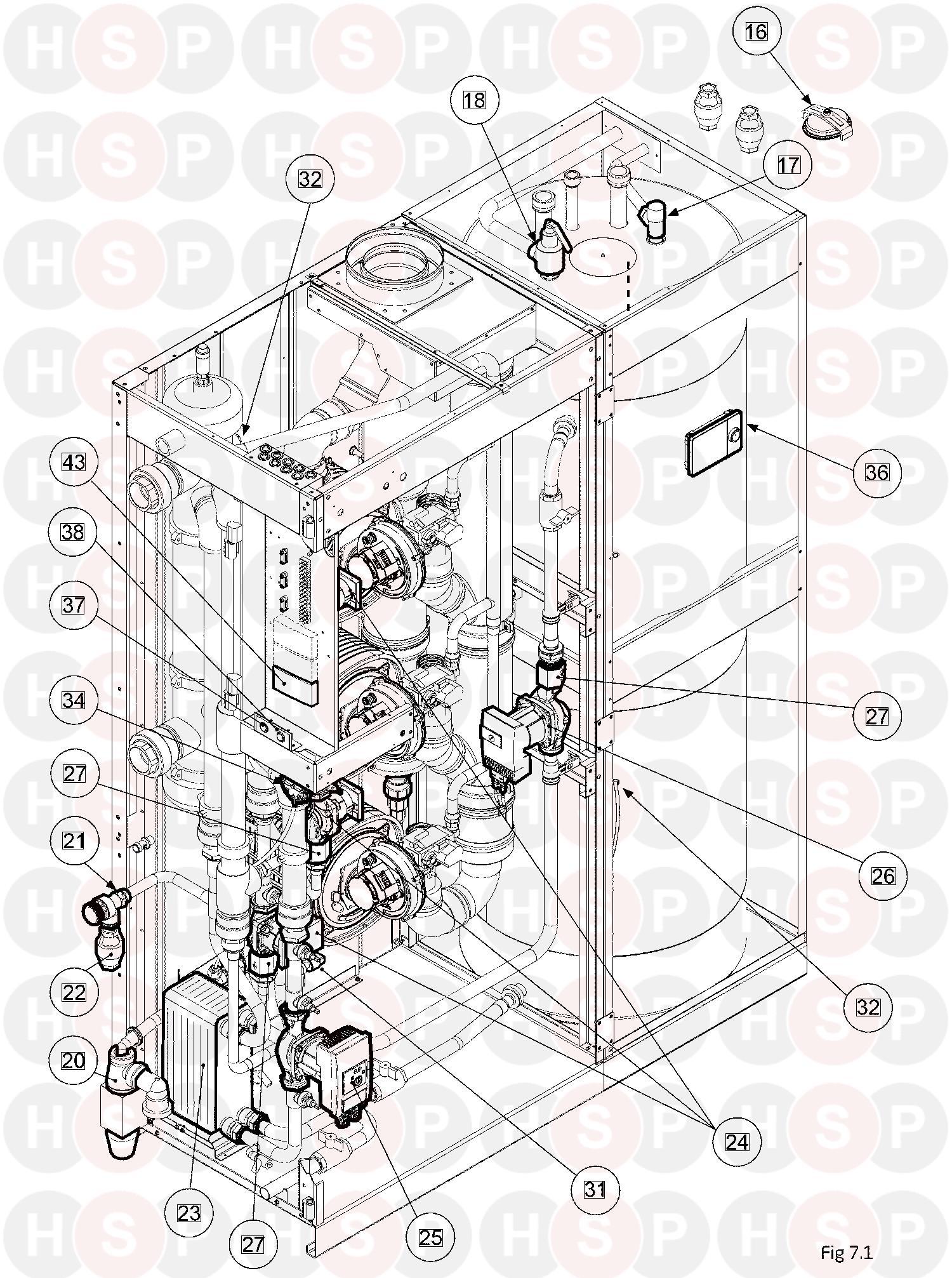 Andrews CombiFlo 100/300 (PUMP TANK PIPE WORK)Diagram