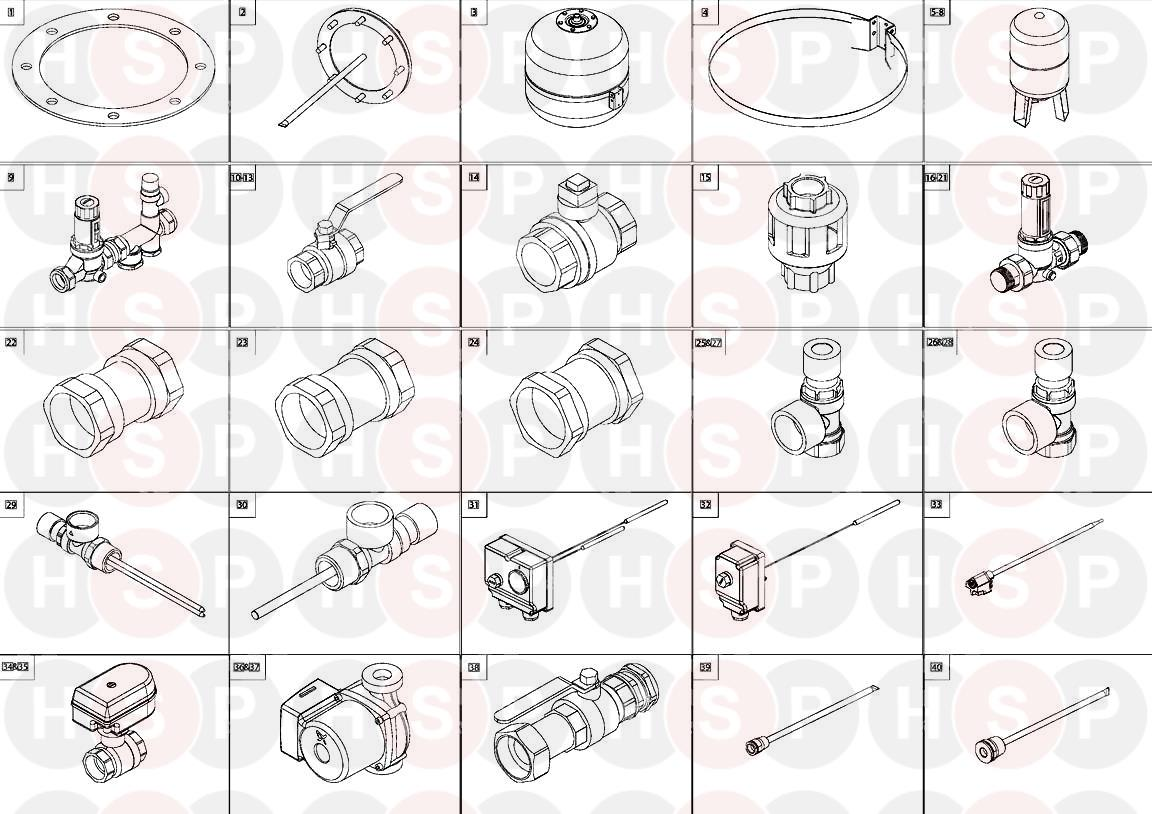EXPLODED VIEW diagram for Andrews COMMERCIAL CYLINDER 1450L DIRECT 10 BAR