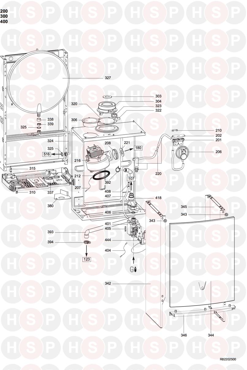 Ariston MICROGENUS HE 32MFFI Appliance Diagram (CASING