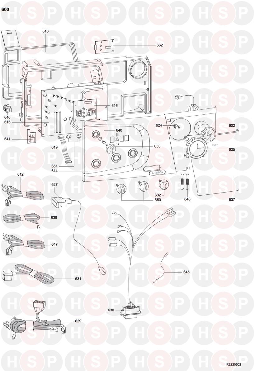 Ariston MICROGENUS HE 28MFFI (ELECTRICAL BOX) Diagram