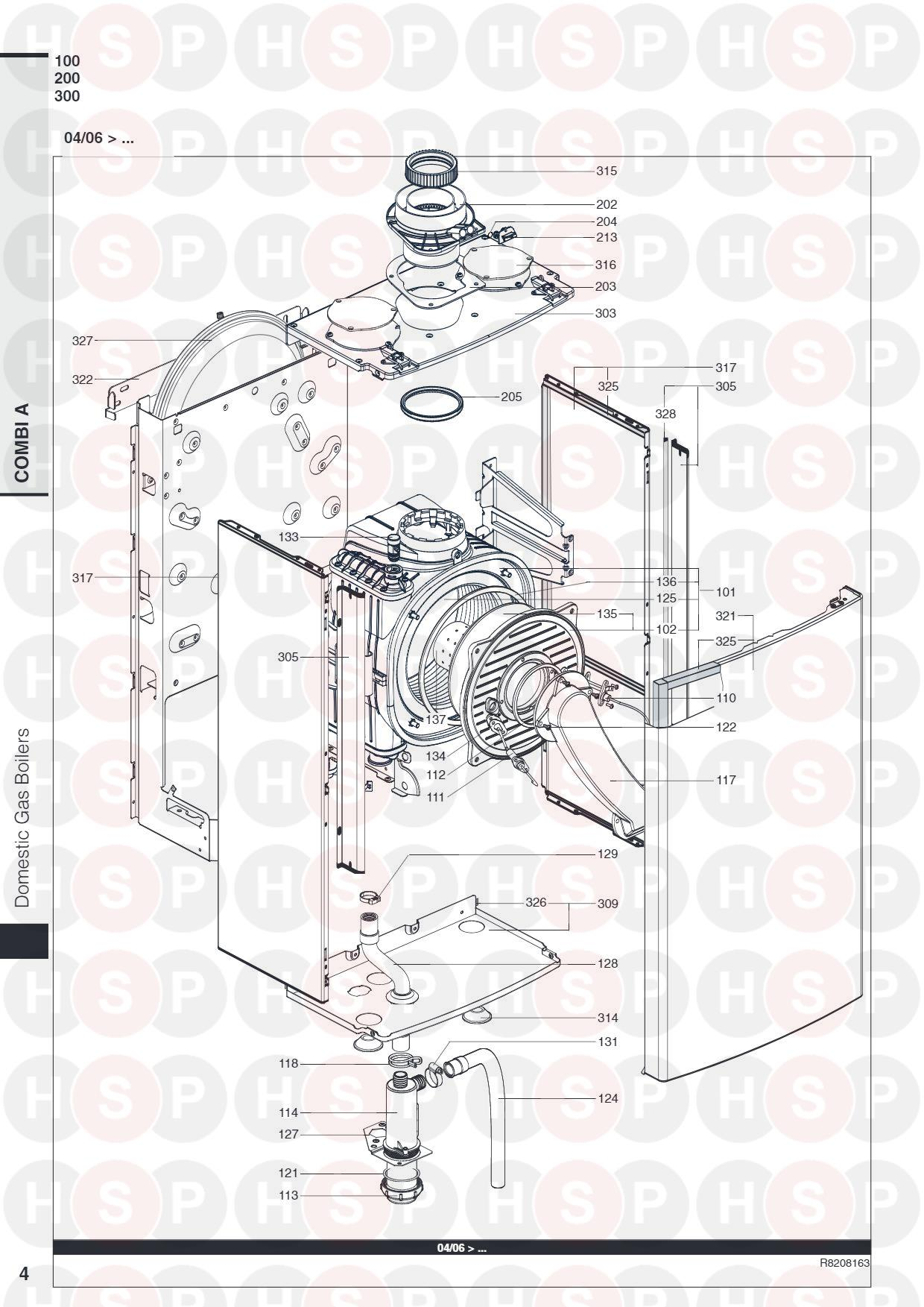 BURNER FROM 04/06 diagram for Ariston COMBI A 24 MFFI (28/06/2013)