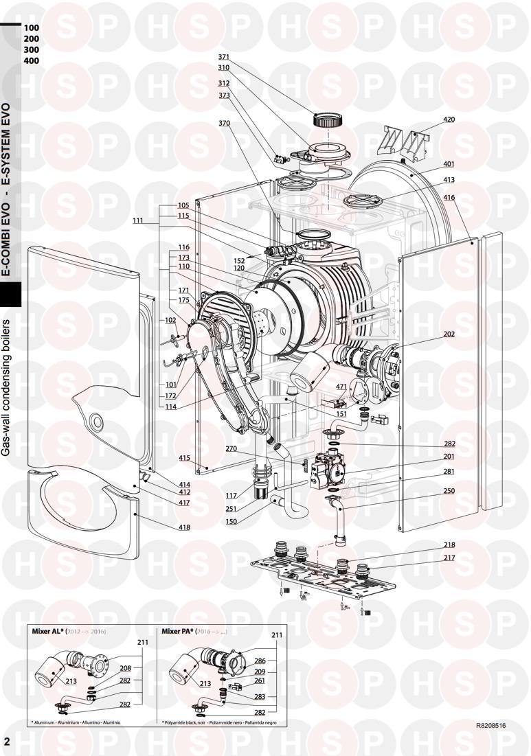 ariston e combi evo 30 appliance diagram  burner
