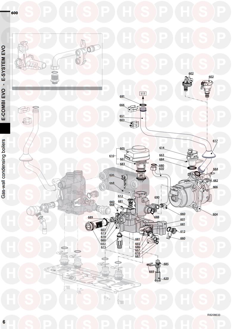 Ariston E COMBI EVO 24 Appliance Diagram (RETURN GROUP