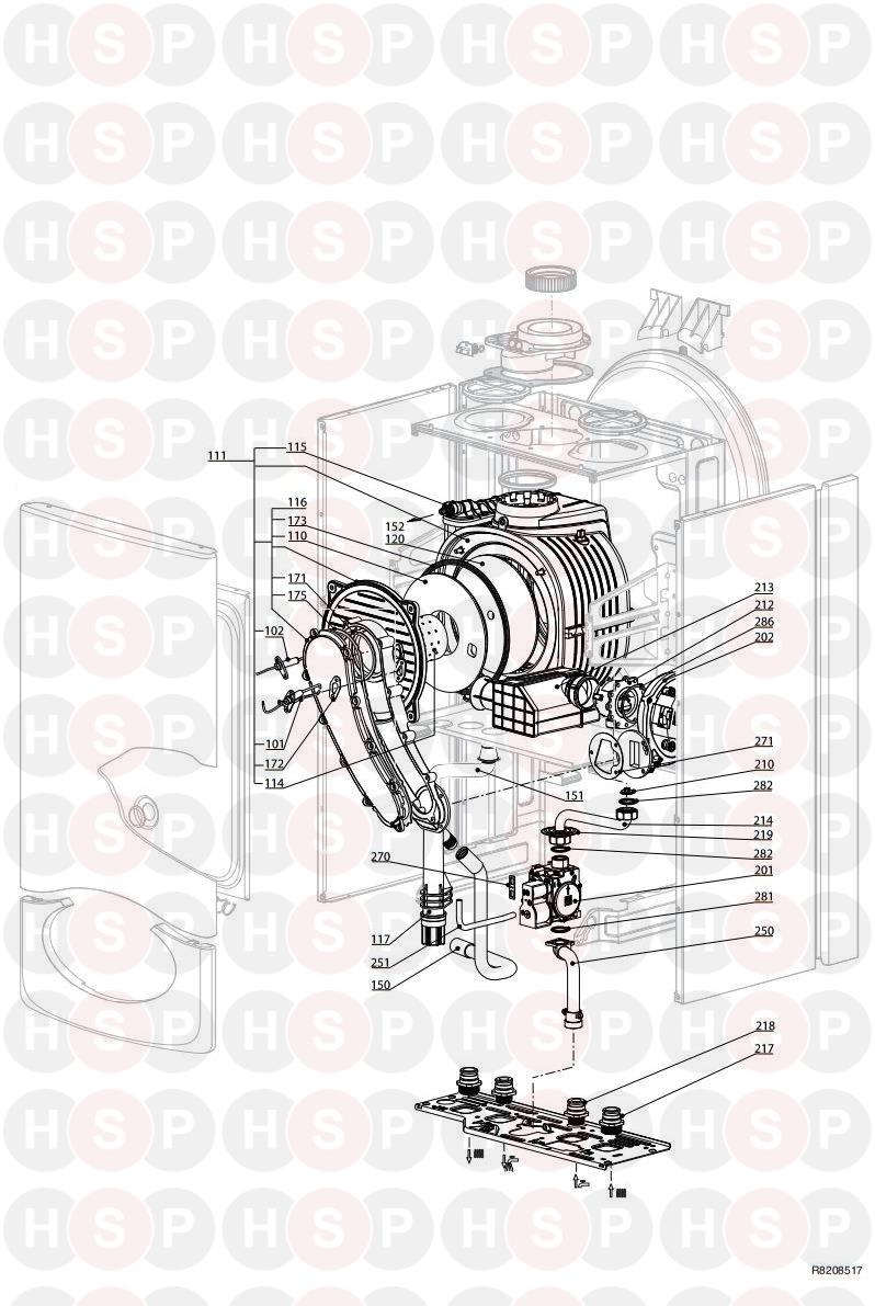 Ariston CLAS HE EVO SYSTEM 24 (Burner Gas section) Diagram