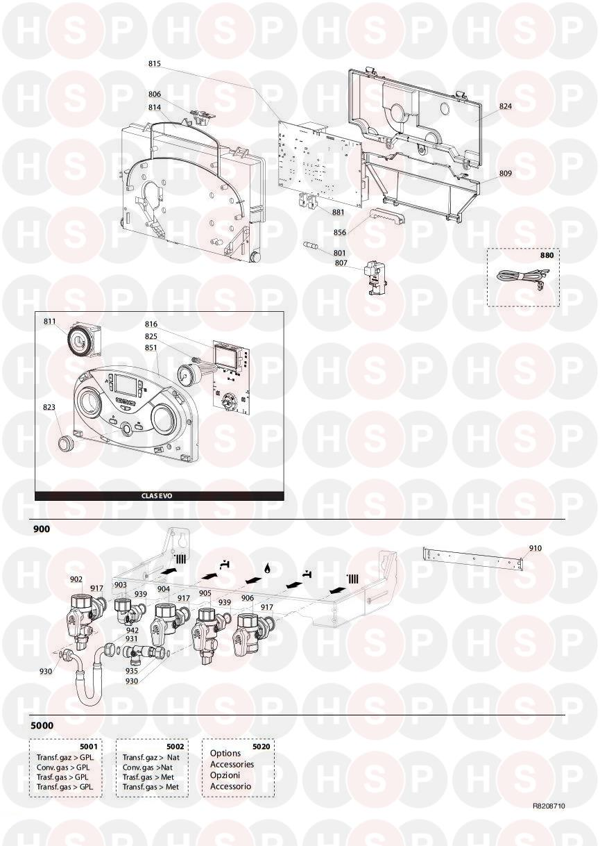 Ariston CLAS HE EVO SYSTEM 24 Appliance Diagram