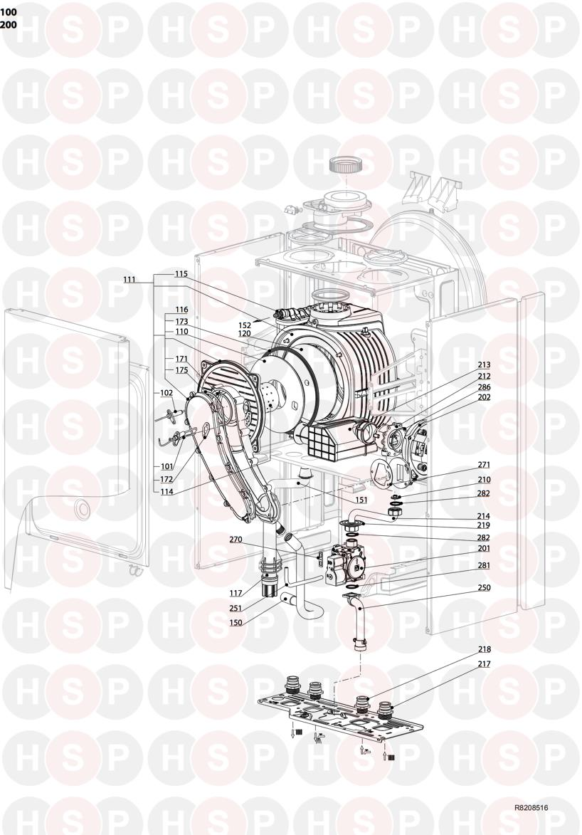 Ariston E COMBI EVO 30 ERP (BURNER GAS SECTION) Diagram