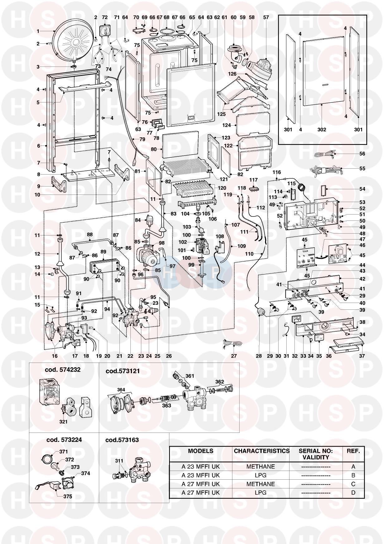 ARISTON EUROCOMBI A23MFFI A27MFFI BOILER RIGHT HAND IGNITION ELECTRODE 569560