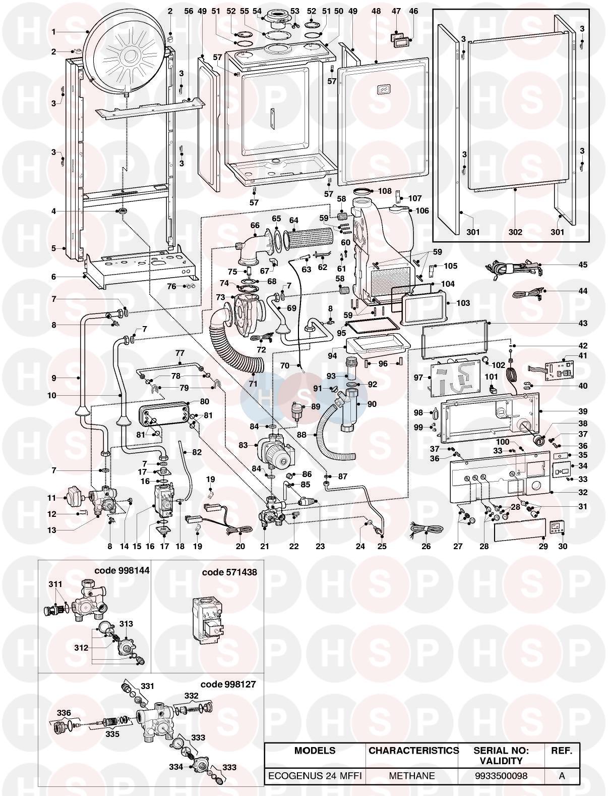 Ariston ECOGENUS 24 MFFI EDITION1 Appliance Diagram