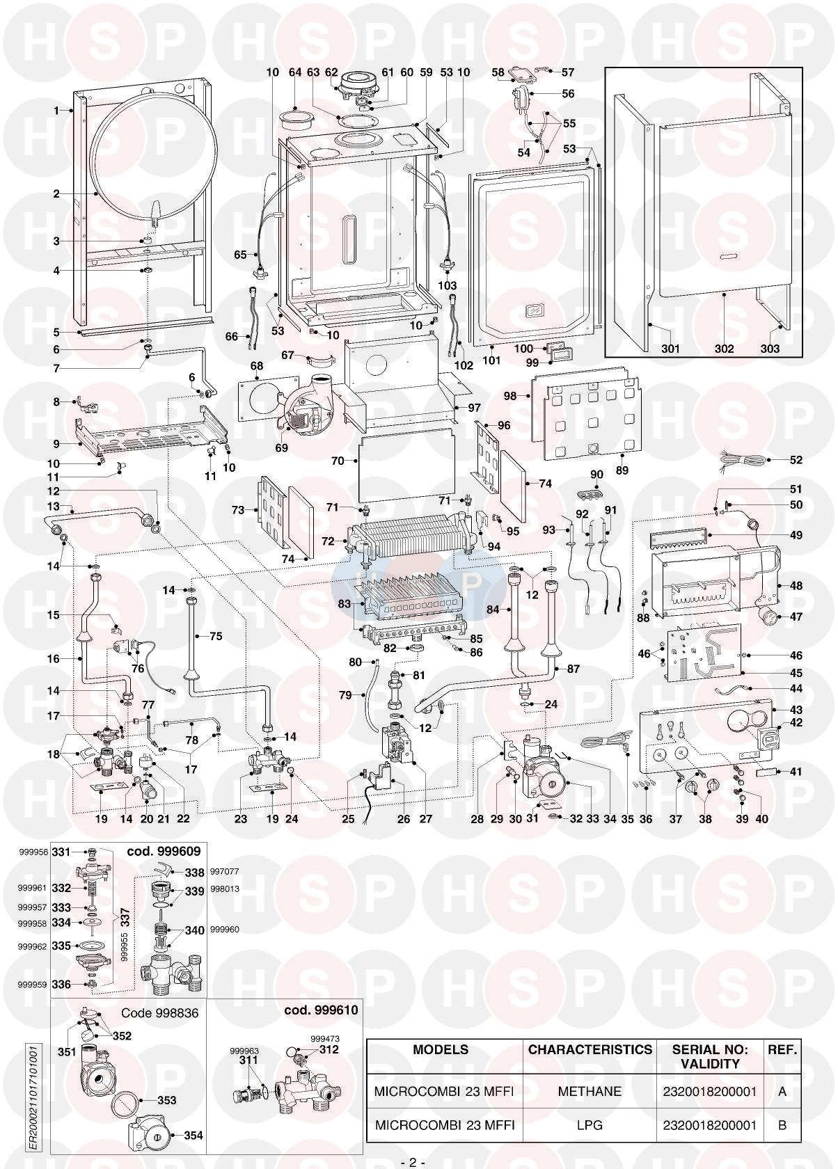 Ariston MICROCOMBI 23 MFFI EDITION1 (EXPLODED VIEW