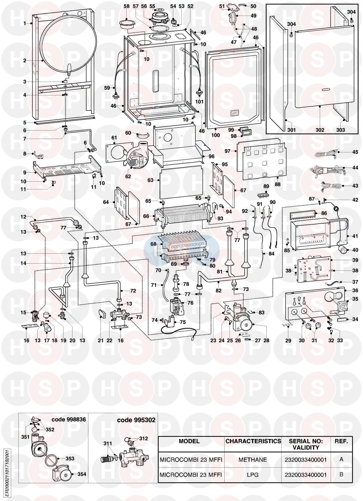 Ariston MICROCOMBI 23 MFFI EDITION2 (EXPLODED VIEW