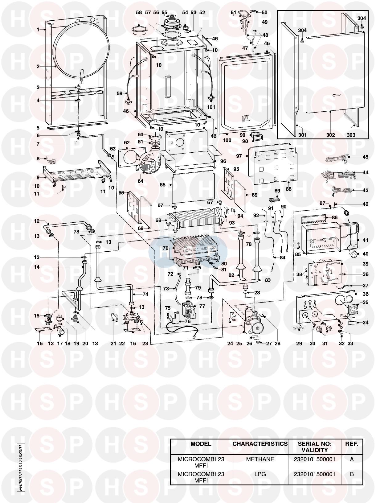 Ariston MICROCOMBI 23 MFFI EDITION3 (EXPLODED VIEW