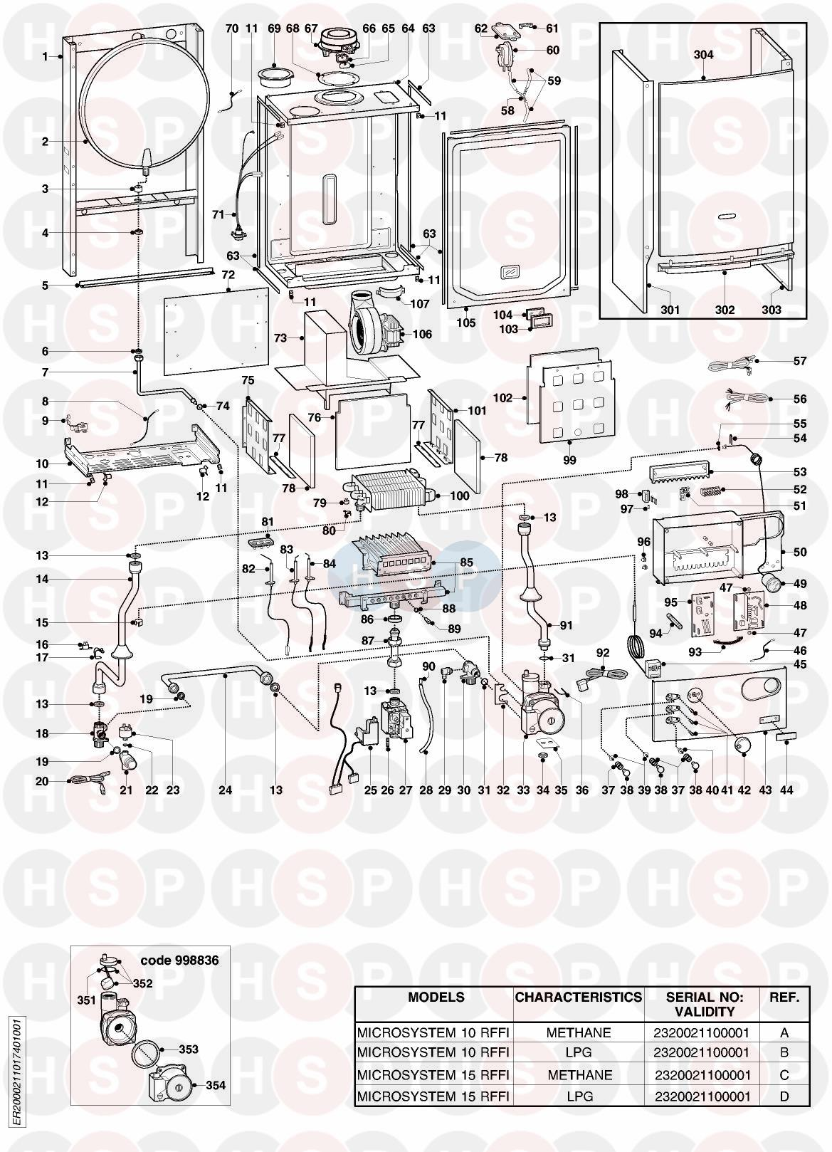 Ariston MICROSYSTEM 10 RFFI EDITION1 Appliance Diagram