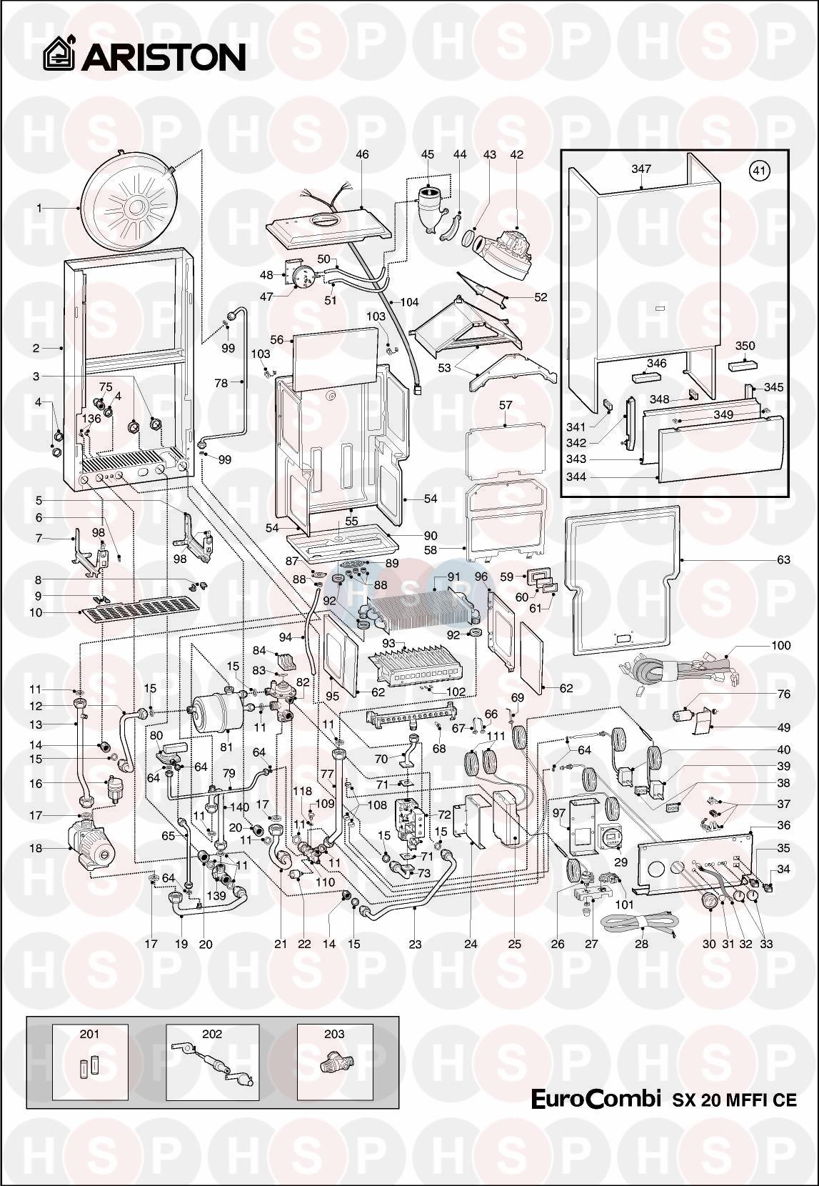 Ariston SX 20 MFFI CE EDITION2 (EXPLODED VIEW) Diagram