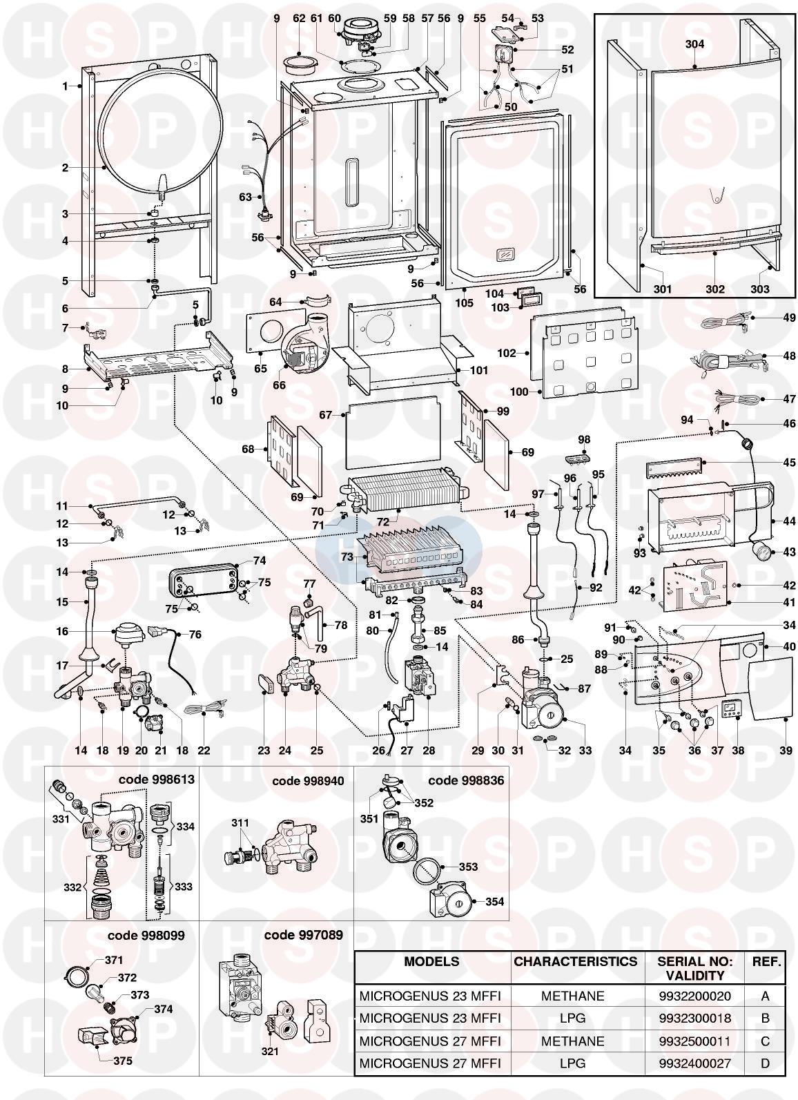 Ariston MICROGENUS 23 MFFI EDITION1 Appliance Diagram