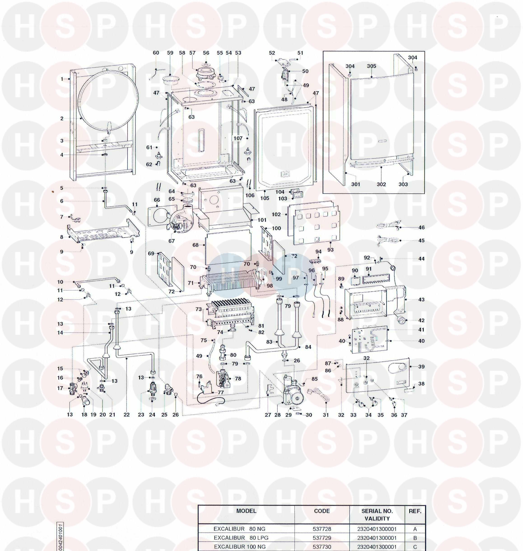 Ariston EXCALIBUR 100 Appliance Diagram (EXPLODED VIEW