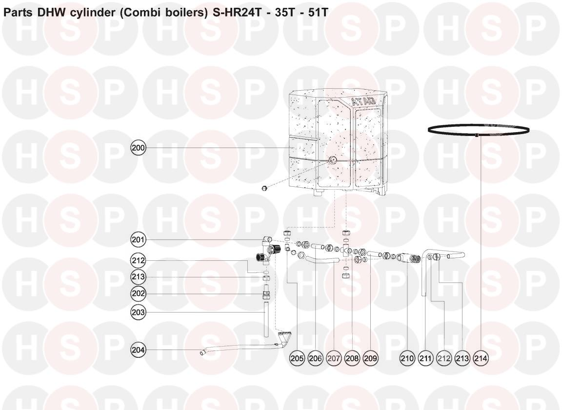 ATAG S-HR 35T (DOMESTIC HOT WATER CYLINDER) Diagram | Heating Spare ...