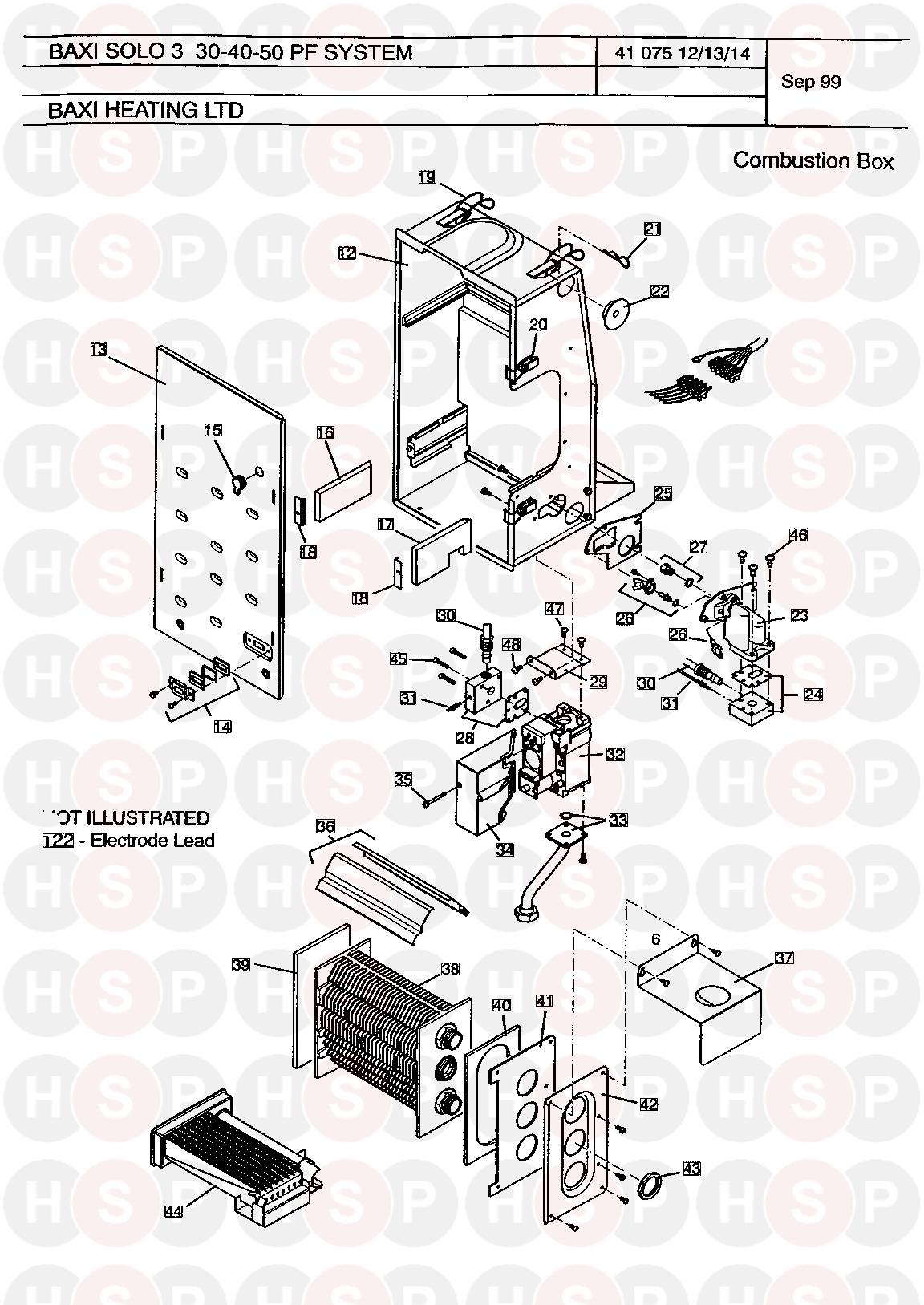 baxi 3 pf 30 system  combustion box  diagram