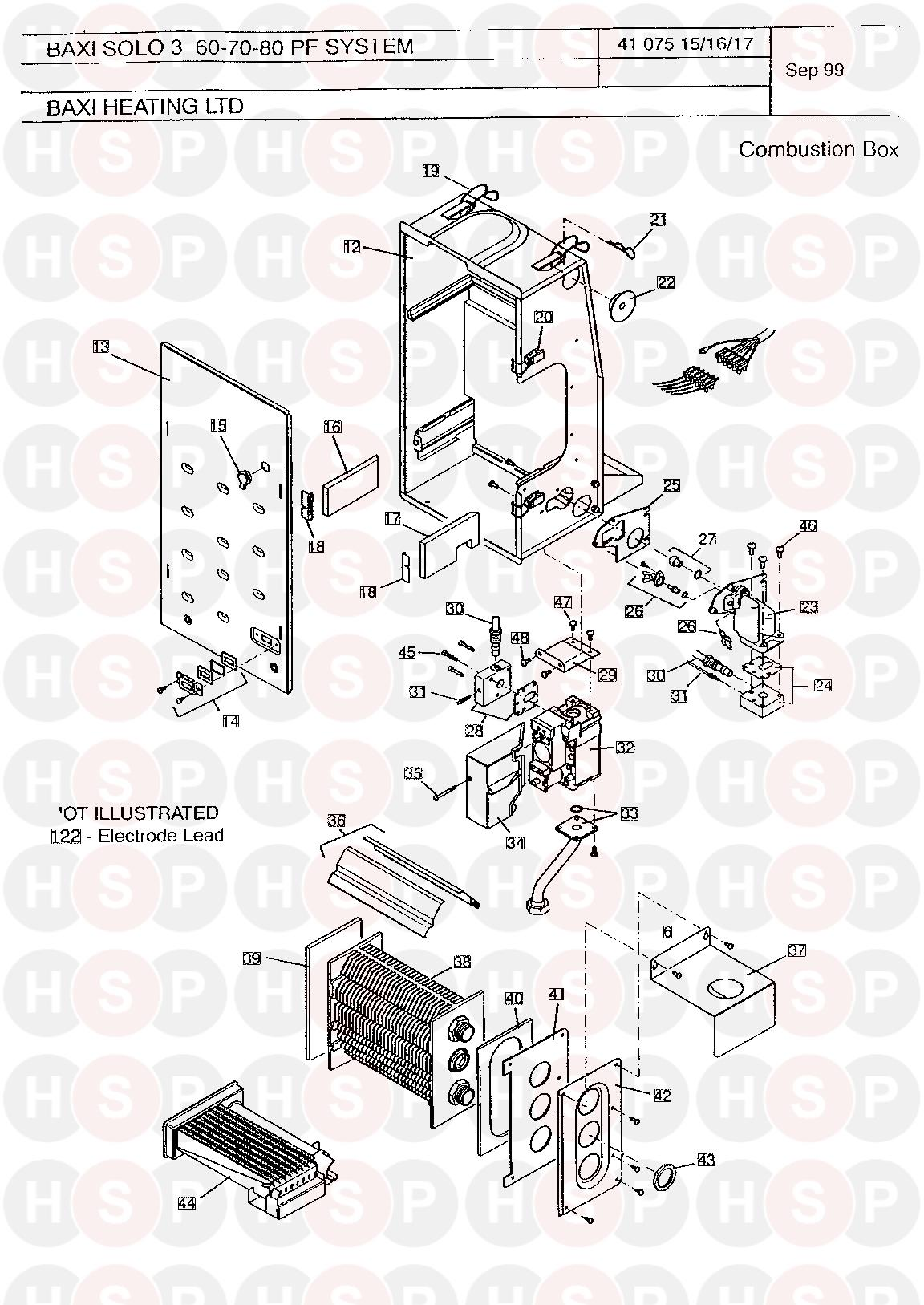 baxi 3 pf 60 system  combustion box  diagram