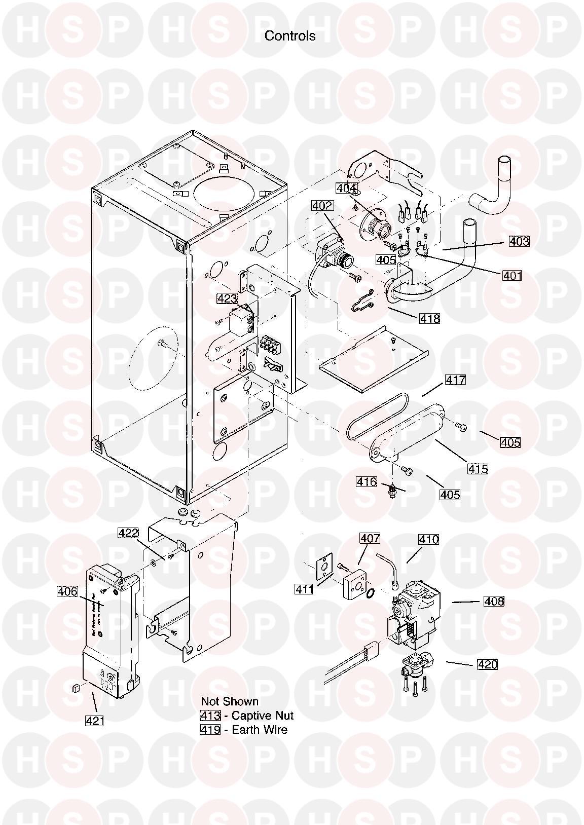 baxi solo 30 he a appliance diagram  controls