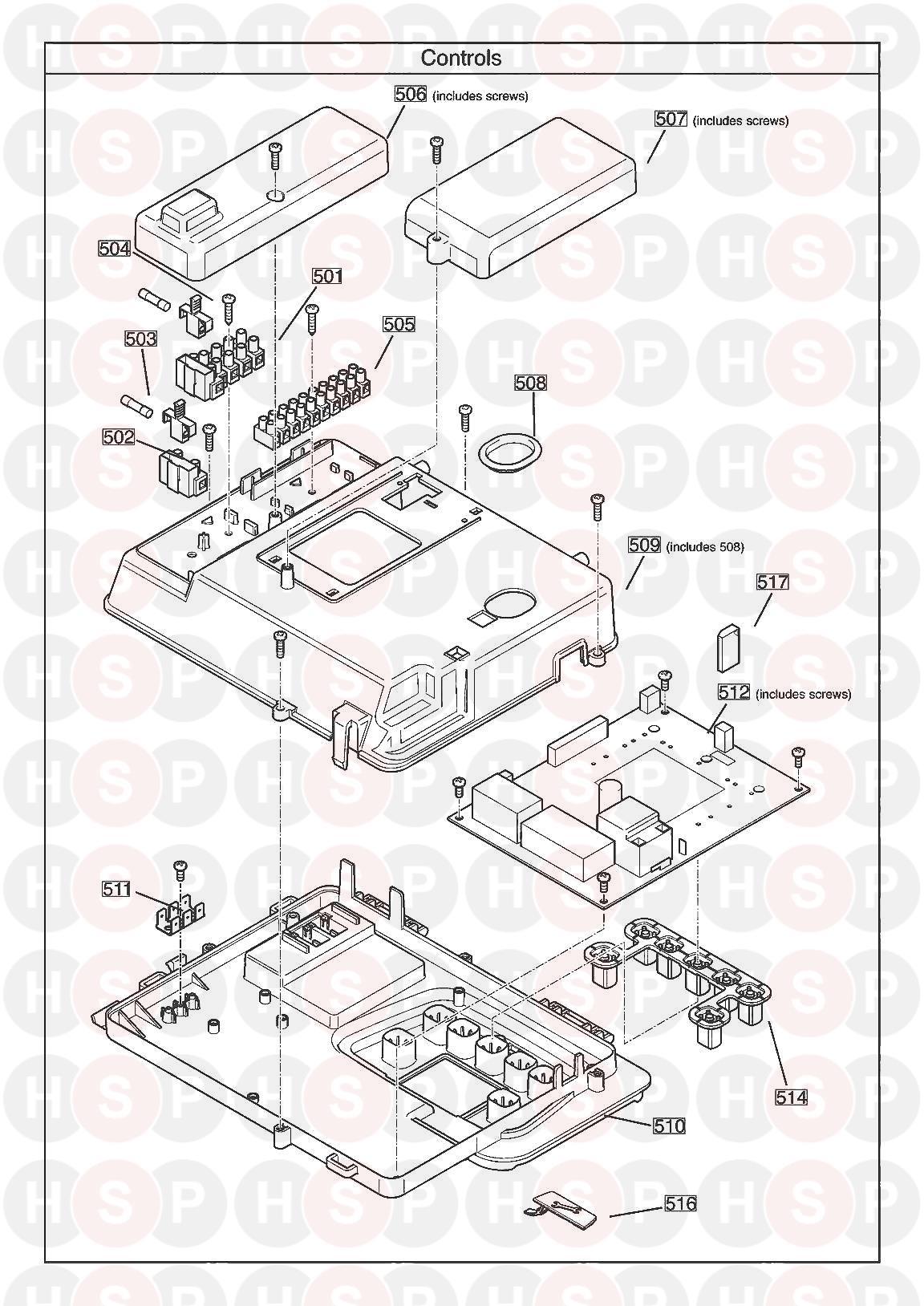 baxi megaflo 2 system 12 compact ga  controls  diagram