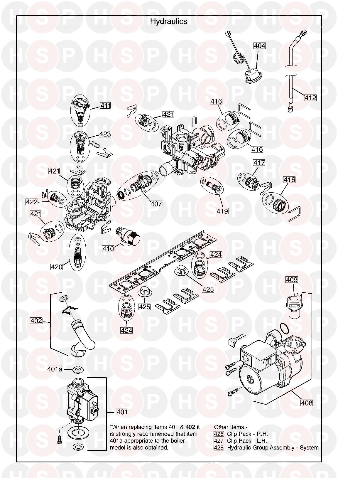 baxi megaflo 2 system 12 compact ga  hydraulics  diagram