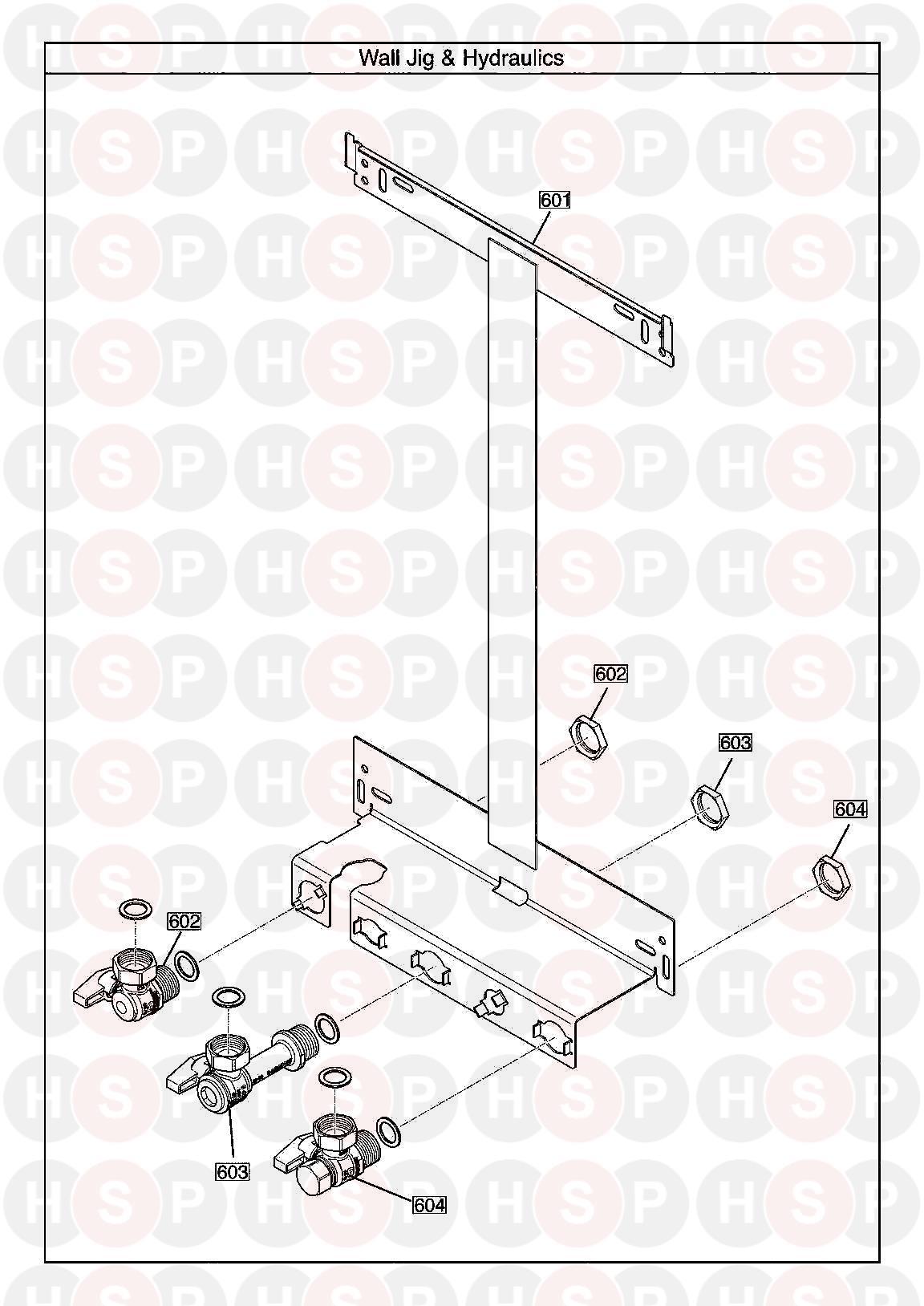 baxi megaflo 2 system 24 compact ga  wall jig  diagram