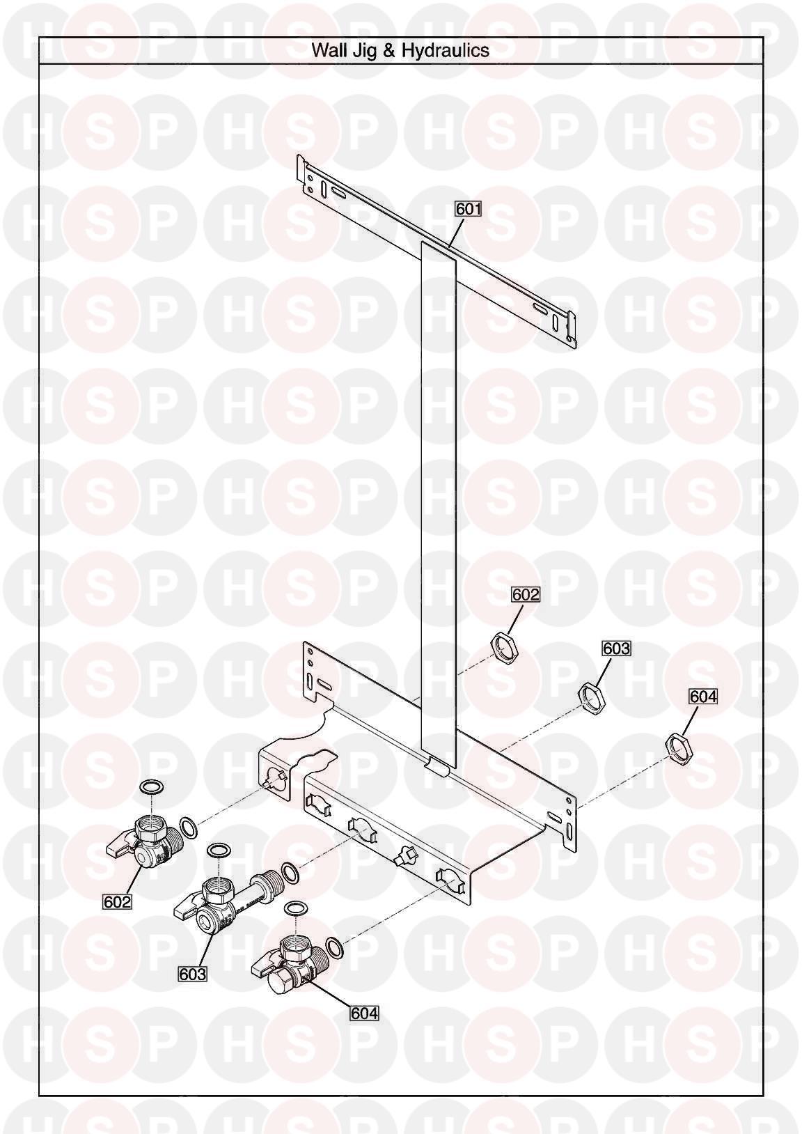 baxi megaflo 2 system 32 compact ga  wall jig  diagram