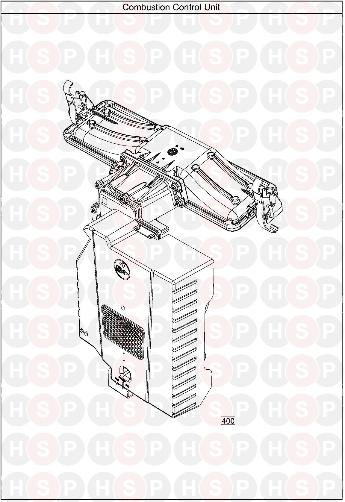 baxi ecoblue heat 21  combustion control unit  diagram