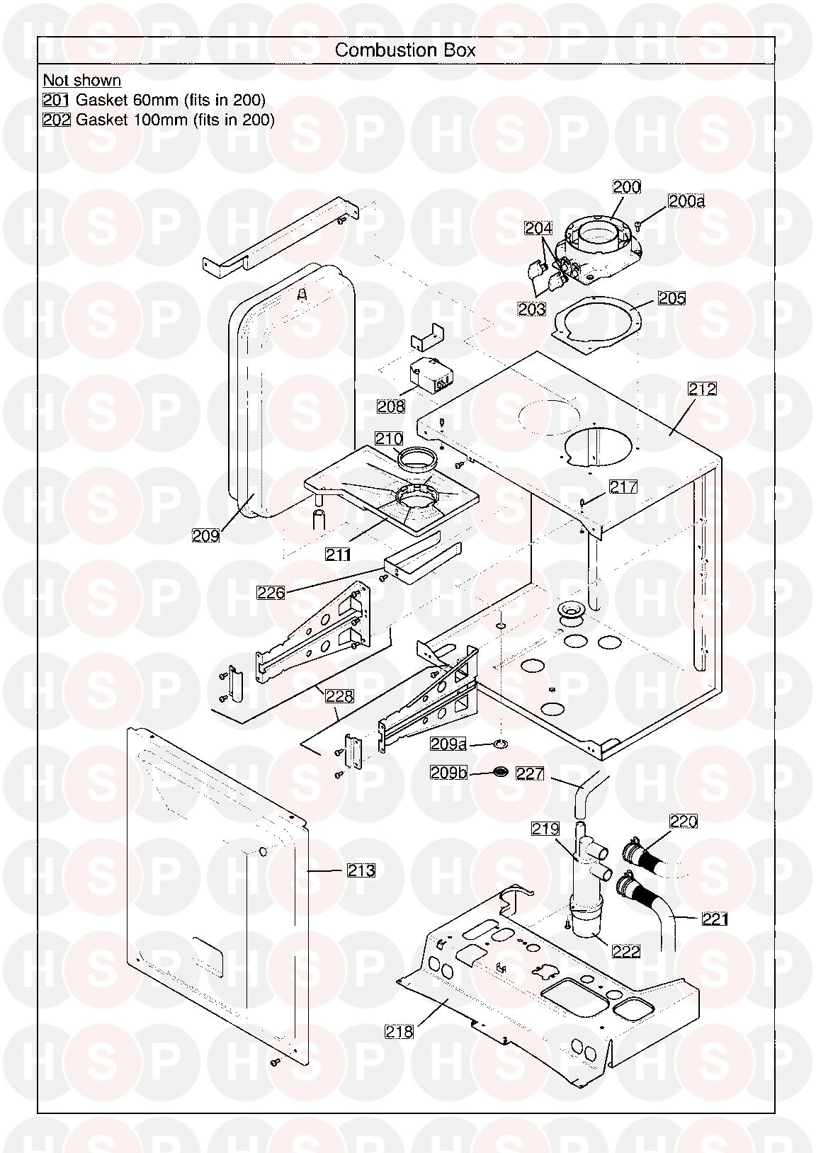 baxi 28 system erp serial no  ending in ac  combustion box  diagram