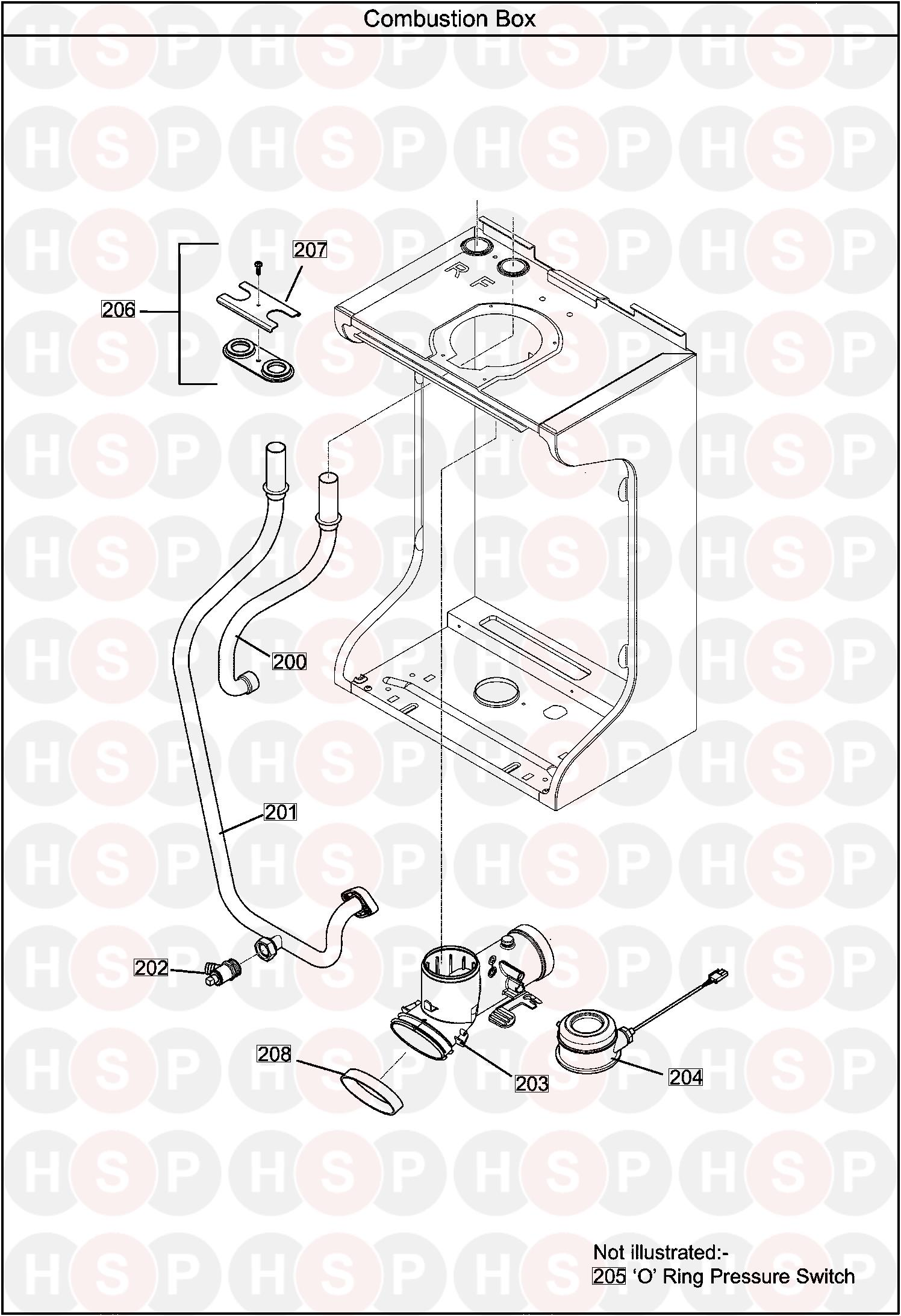 Baxi 218 Heat Only Combustion Box Diagram Heating