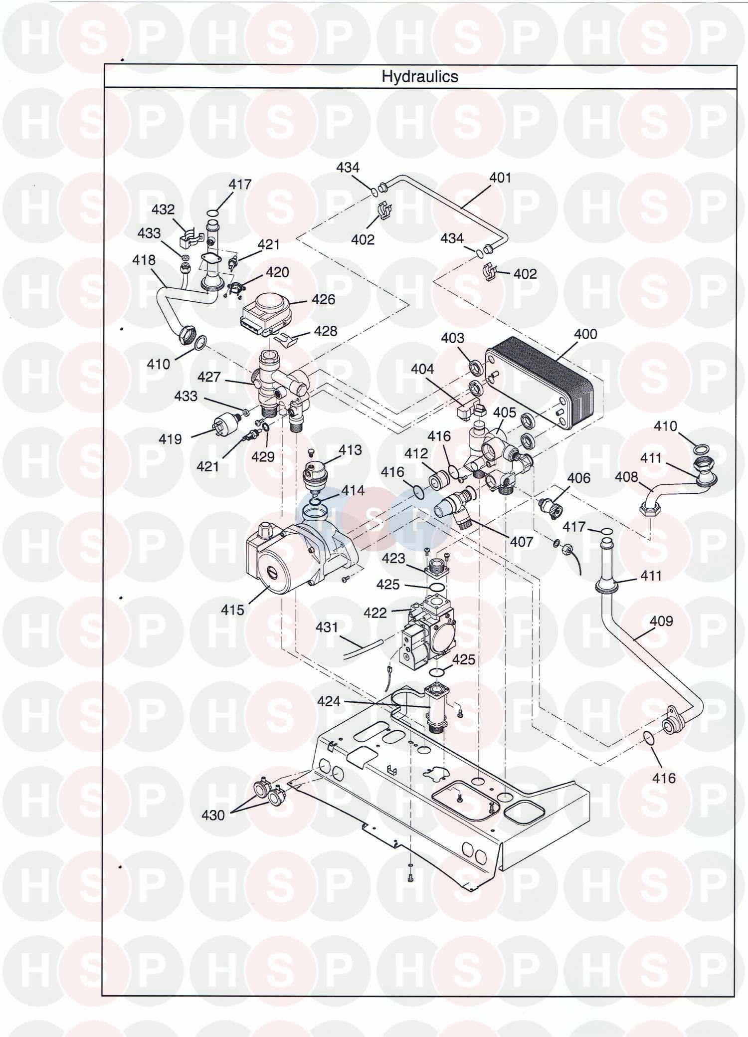 Baxi Duo Tec 28 He  Hydraulics  Diagram